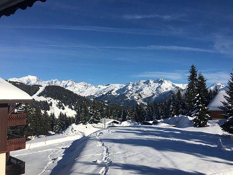 Mountain, Snow, Chalet, Holiday, Alps, Ski, Nature