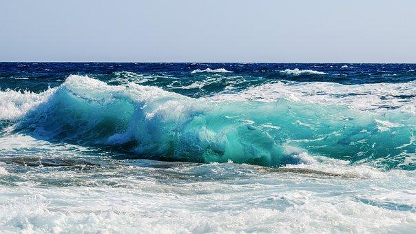 Waves, Foam, Spray, Sea, Blue, Beach, Splash, Wind