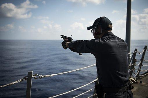 Soldier, 9mm, Pistol, Military, Navy