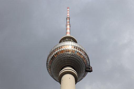 Berlin, Tv Tower, Alexanderplatz, Places Of Interest