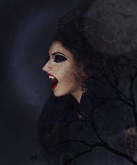 Vampire, Vampire Woman, Vampire Lady, Night Shape