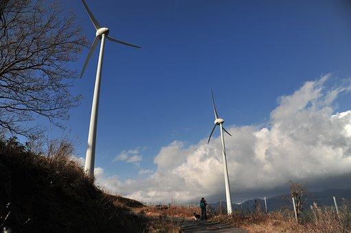 Wind Turbine, Sky, Landscape