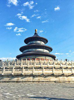 The Temple Of Heaven, Building, China, Beijing