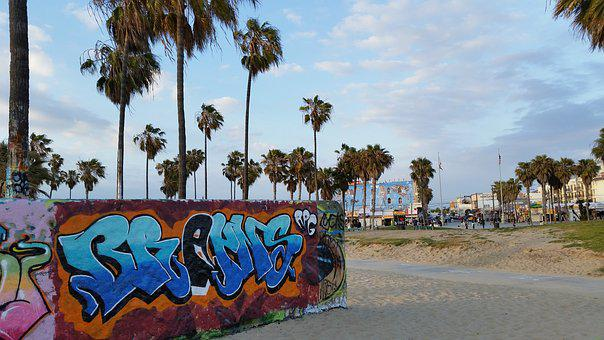 Venice Beach, Beach, Graffiti, Venice, California