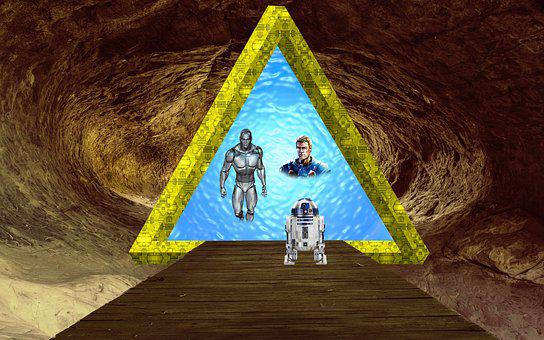 Fantasy, Goal, Robot, Cave, Path, Watch