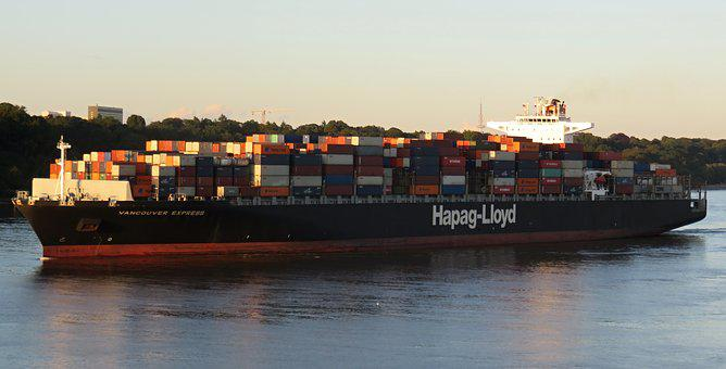 Container, Ship, Container Ship, Port, Hamburg