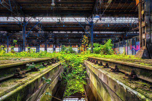 Lost Places, Hall, Seemed, Pforphoto, Factory, Decay