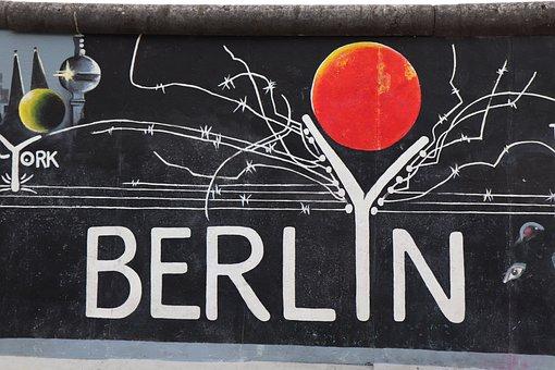 Berlyn, East, Side, Gallery, Berlin, Berlin Wall