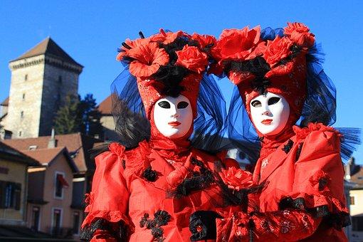 Carnival, Color, Venetian, Disguise, Mask, Festival