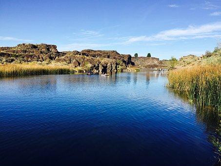 Landscape, River, Water, Nature, Natural, Forest, Rural