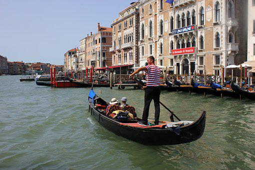 Holiday, Italy, Venice, Gondola