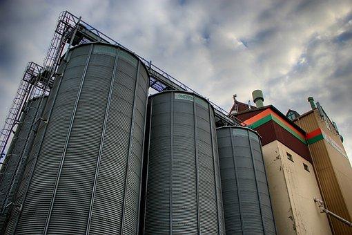 Silo, Cereals, Sky, Stock, Grain, Goods Depot, Memory