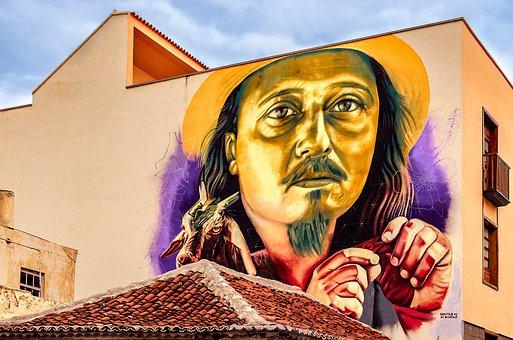 Puerto De La Cruz, Hauswand, Image, Graffiti, Paint