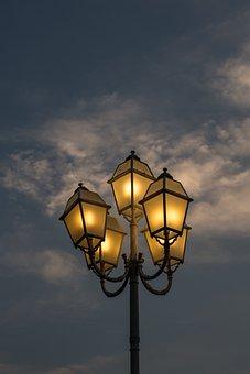 Romantic, Street, Lights, Lanterns, City, Europe
