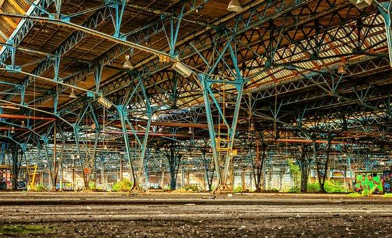 Train, Lost Places, Repair Work, Factory
