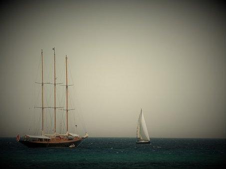 Ship, Sailing Vessel, Three Masted, Mediterranean