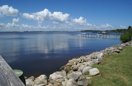 Florida, Melbourne, Beach, Indian, River, Nature, Water
