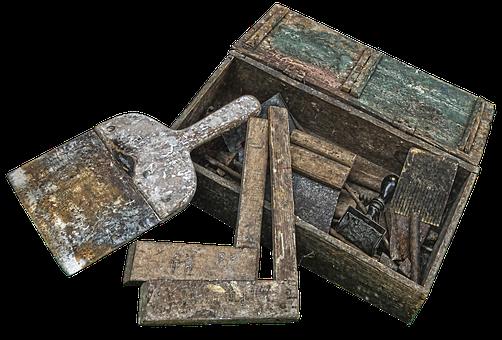 Wood Angle, Spatula, Tool Box, Historically, Nostalgia