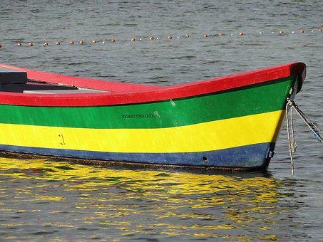 Boat, Colors, Water, Calm, Reflections, Port, Fishing