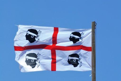 Flag, Sardinia, Italy, Mediterranean, Island, Ferns