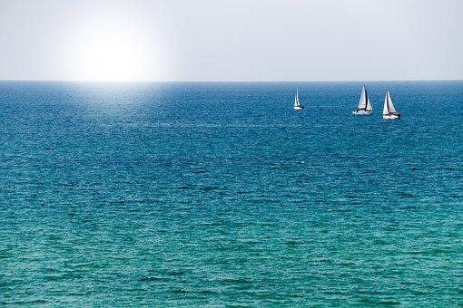 Sun, Sea, Blue, Ocean, Summer, Water, Landscape, Sky
