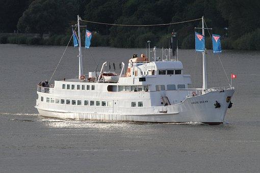 Ship, Seute Dahir, Hamburg, Elbe, Resorts Ship, Hadag