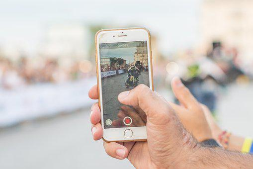 Smartphone, Record, Phone, Video, Hand, Mobile, People