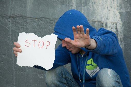 Stop, White Background, Wait, Addict, Man, Voltage