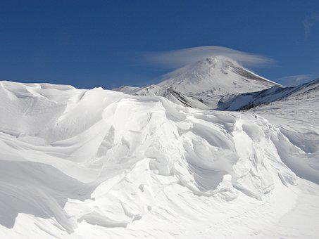 Volcano, The Foot, Slope, Mountains, Landscape, Nature