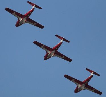 Three Planes, Snowbirds, Jets, Jet, Acrobatics, Air