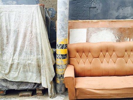 Sofa, Street, Alley, Beijing, China