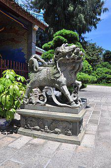 Sculpture, Chinese Guardian, Chinese Lion