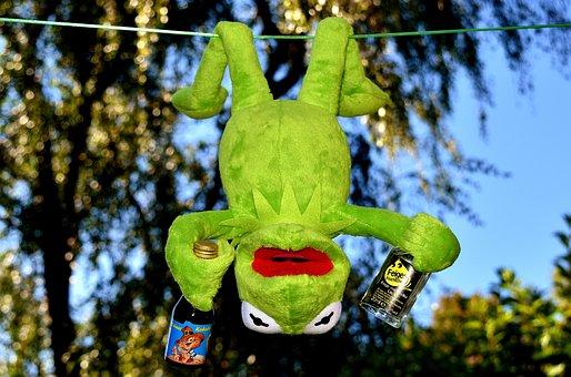 Kermit, Frog, Drink, Alcohol, Drunk, Depend