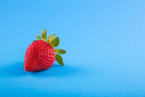 Power, Blue, Food, Background, Strawberry, Fresh, Fruit
