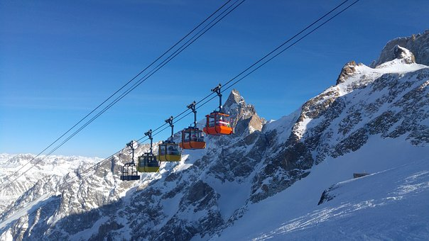 Mountain, Alps, Snow, Cable Car, Gondola, Summit, Isère