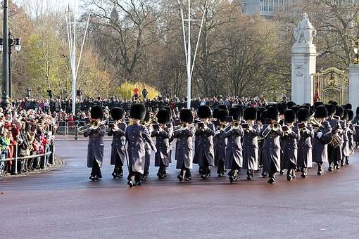 London, Changing Of The Guard, Buckingham Palace