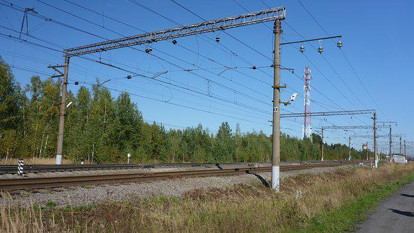 Russia, Railway, Moscow Region, Ways, Nature, Road