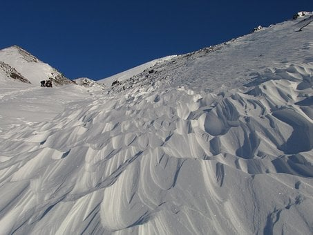 The Foot Of The Volcano, Winter, Snow, Snowdrifts, Nast