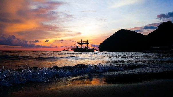Beach, Boat, Sil, Blue, Travel, Water, Ocean, Summer