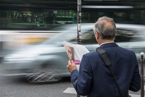 Man, News, Paper, Travel, Business, Businessman, Person