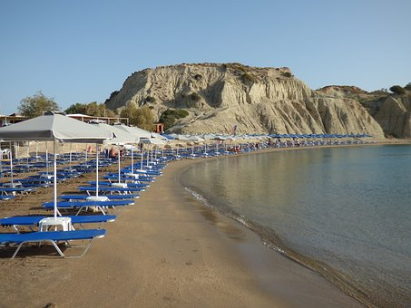 Greece, Beach, Recreation, Sea, Sandy Beach, Holiday