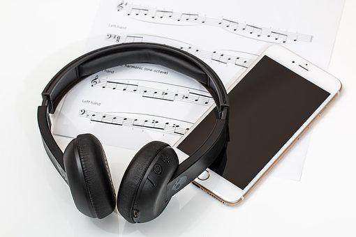 Headphones, Earphones, Mobile Phone, Music, Technology