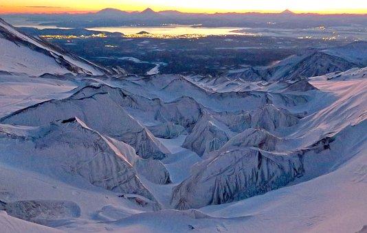 Volcano, Mountains, Glacier, The Foot, Nipple