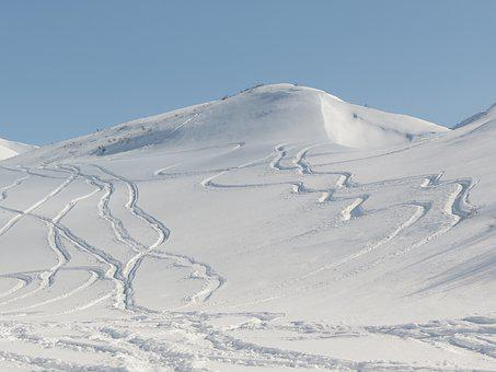 Volcano, The Foot, Slope, Travel By Snowmobile