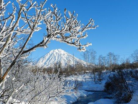 Koryaksky Volcano, Kamchatka, Winter, Frost, Leann