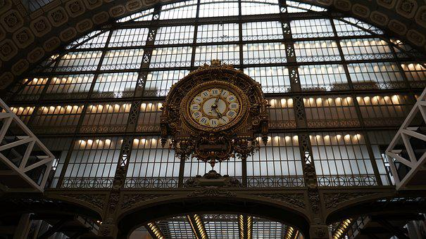 Clock, Railway Station, Architecture, Time
