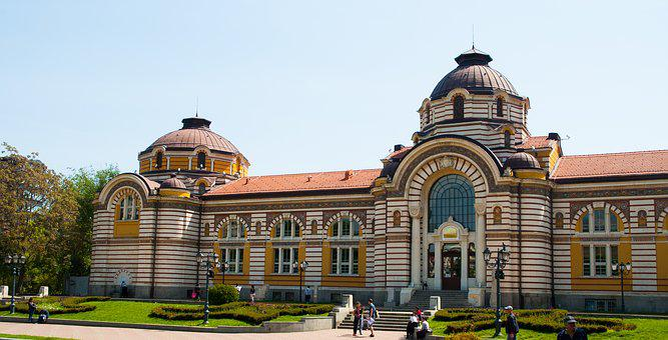 Sofia, Bulgaria, Bathing House, Architecture, Building
