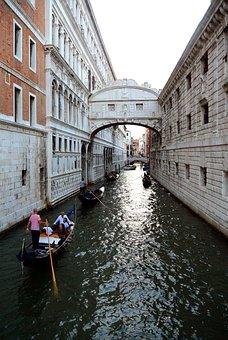 Bridge Of Sighs, Venice, Channel, Bridge, Gondola