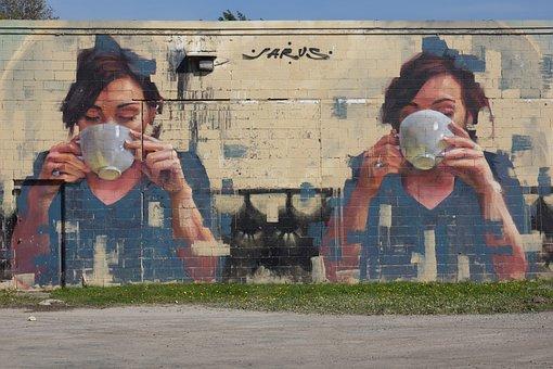 Urban Graffiti, Street Art, Building