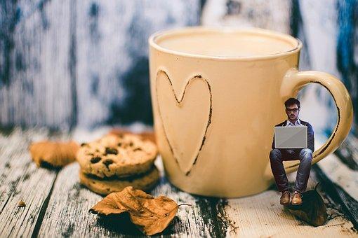 Coffee, Cookies, Breakfast, Cup, Drink, Food, Brown